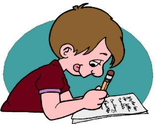 Image garçon qui écrit