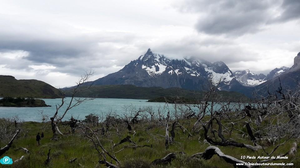 Parc Torres del Paine - Mirador Condor, vue sur lac Pehoé
