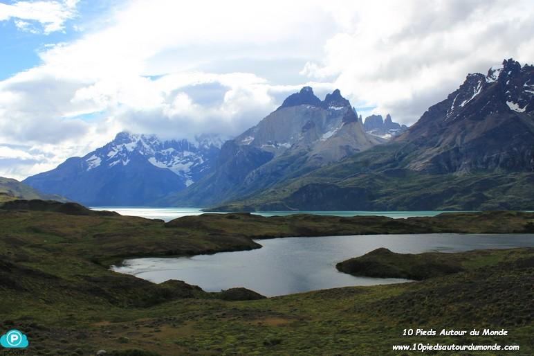 Parc Torres del Paine - Mirador Cuernos, vue sur lac Nordernskjöld