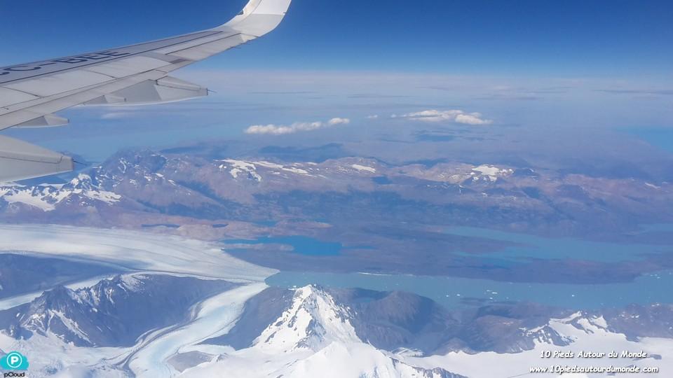 Survol de la Patagonie