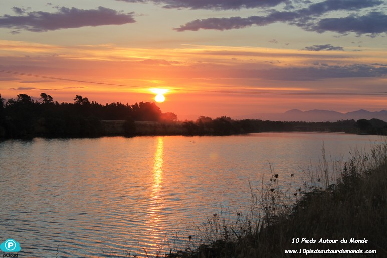 Dîner et coucher de soleil