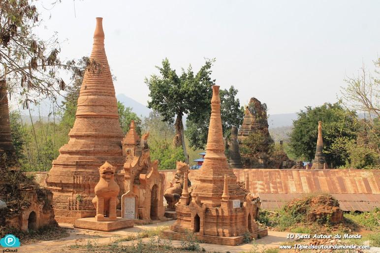 Journée sur le lac Inlé - Indein stupas