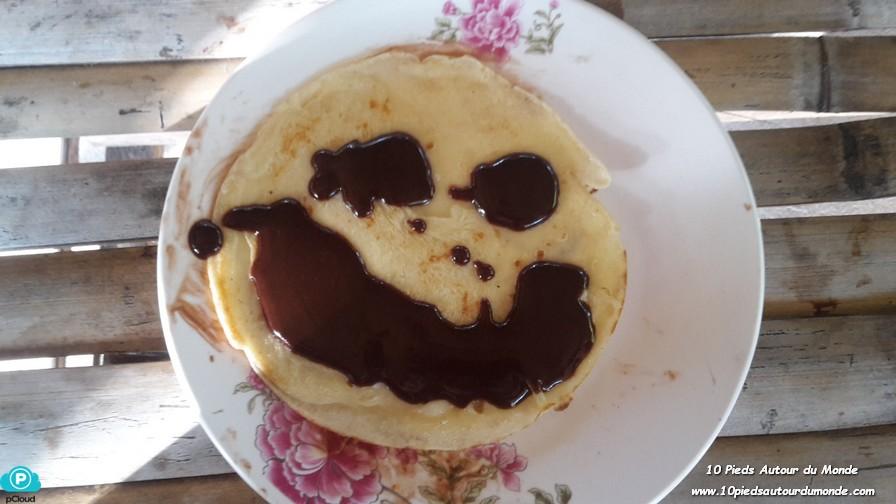 Banana pancake au chocolat