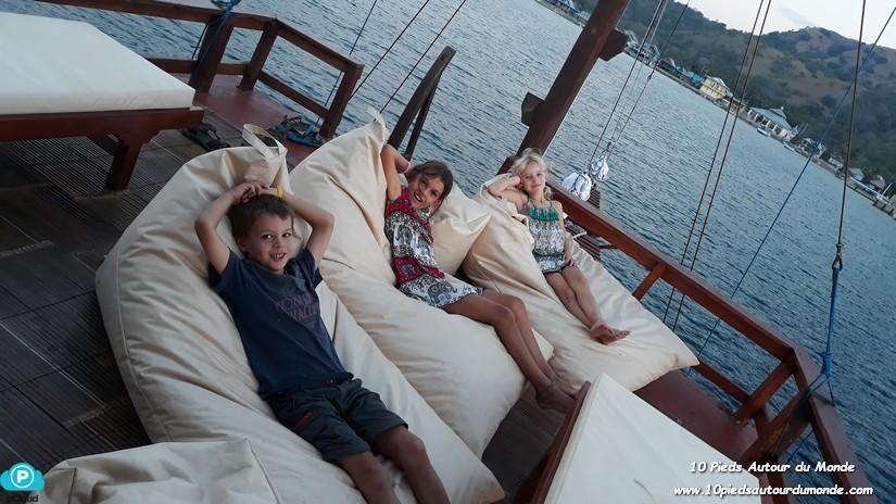 J1 sur le bateau