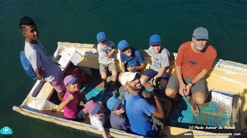 J2 sur le bateau