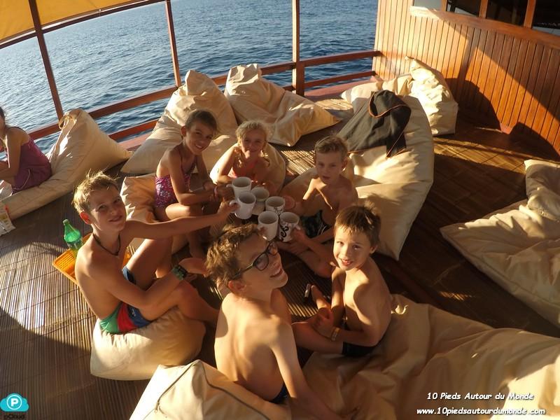 vie sur le bateau