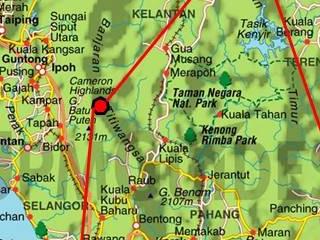 Image carte partielle Malaisie